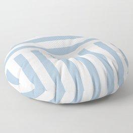 Powder Blue Direct Stripe Floor Pillow