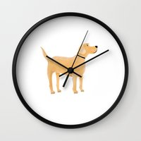 labrador Wall Clocks featuring Labrador by Cathy Brear