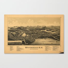 Aerial View of Wolfeborough, New Hampshire (1889) Canvas Print