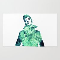 zayn Area & Throw Rugs featuring Zayn Malik / One Direction by Justified