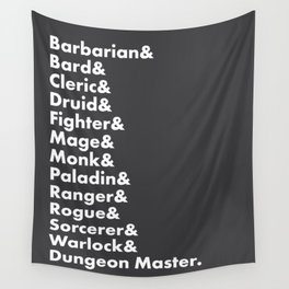 Dungeons and Dragons - Classes Wall Tapestry