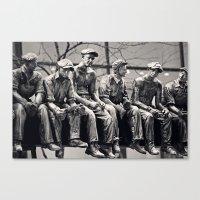 30 rock Canvas Prints featuring Lunch Break 30 Rock by Debbie Wibowo
