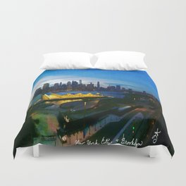 New York City as viewed from the Beautiful Brooklyn Heights Duvet Cover