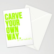 Carve Your Own Way Stationery Cards