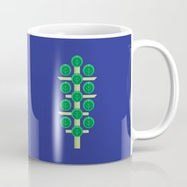 Vegetable: Brussels Sprout Blue Coffee Mug