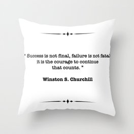 Winston Churchill Quote Throw Pillow