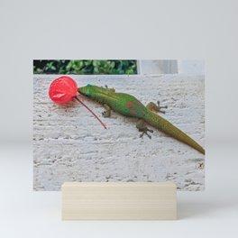 Lizard Snacks Mini Art Print