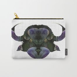 Stylized cow bull head. Abstract art drawing style Carry-All Pouch