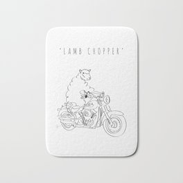 'Lamb Chopper' Bath Mat