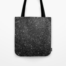 Black Faux Glitter Tote Bag