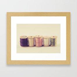 Soft Wooden Spools Framed Art Print