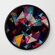 Origami Flight Wall Clock