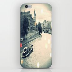 Floating gray iPhone & iPod Skin