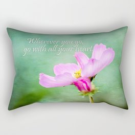 Go With Your Heart Rectangular Pillow