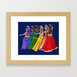 Rainbow Belly Dancers Framed Art Print
