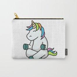 Meditation yoga unicorn gift idea fitness sports Carry-All Pouch