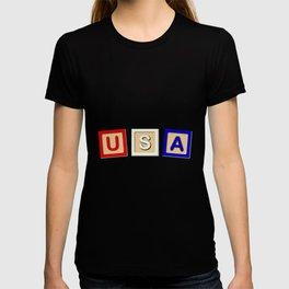 USA Wooden Blocks T-shirt
