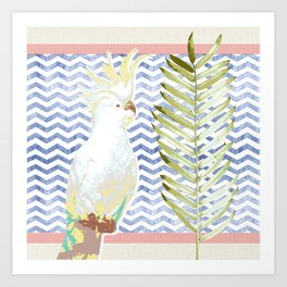 Cockatoo Soiree Art Print