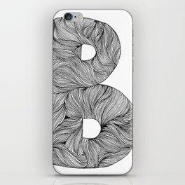 Hand Drawn Font B iPhone Skin