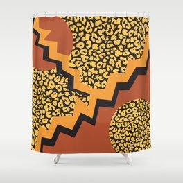 Leopard pattern in 80's style Shower Curtain