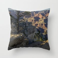 The Grand Canyon and Trees. Throw Pillow