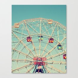Wonder Wheel Carousel Photography Art Print Canvas Print
