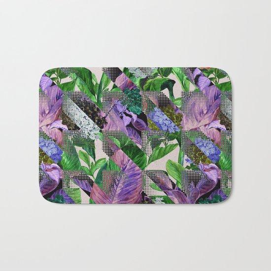 Floral and Geometric Bath Mat