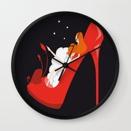 Shoes bath Wall Clock