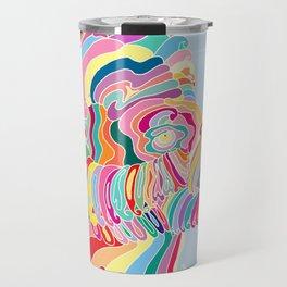 Goat in Rainbow Travel Mug