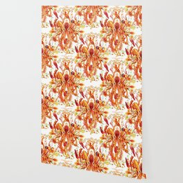 Tangerine Pattern Wallpaper