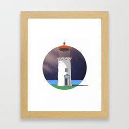 Hawaiian Lighthouse Framed Art Print