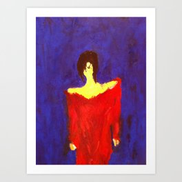 LADY IN RED.... Art Print