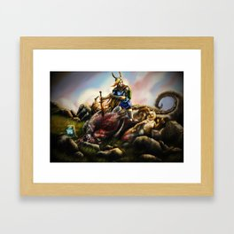 Sacrifices we make for our friends. Framed Art Print