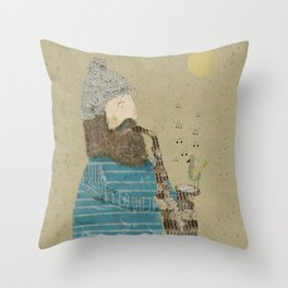 afternoon blues Throw Pillow