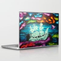 spaceship Laptop & iPad Skins featuring Spaceship by Kaila Hernandez