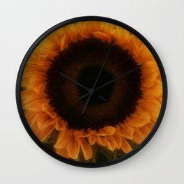 Single Sunflower Wall Clock