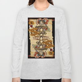 'Cheshire' (Alice in Wonderland Steampunk Series) Long Sleeve T-shirt