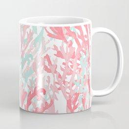 Modern hand painted coral pink teal reef coral floral Coffee Mug