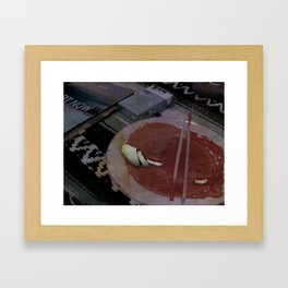 don't wanna be eaten like this Framed Art Print
