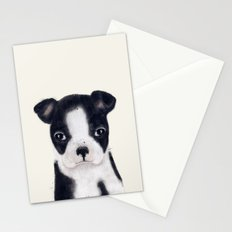 little boston terrier Stationery Cards