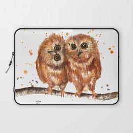 Fuzzy Baby Owls Laptop Sleeve