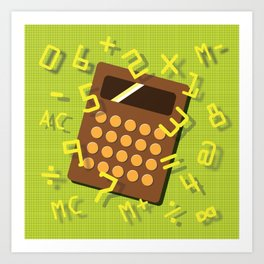 Numeric Escape Art Print