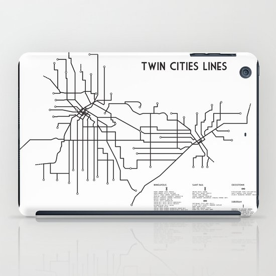 Twin Cities Lines Map iPad Case
