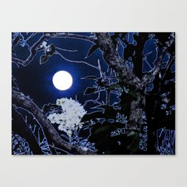 Mystical Moon and Viburnum Canvas Print
