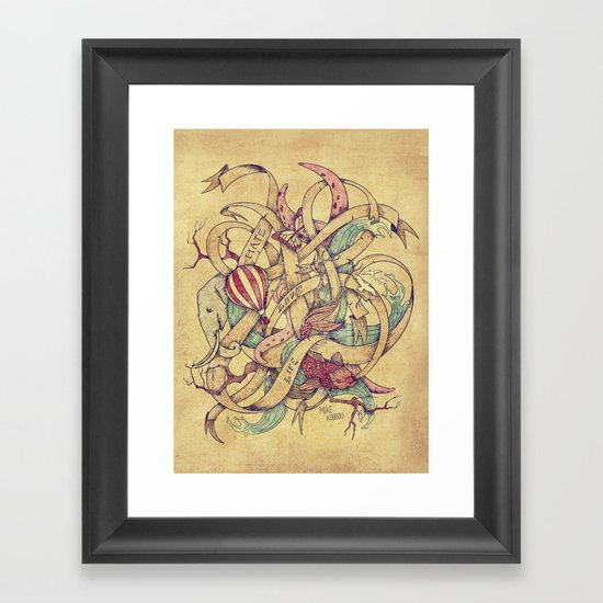Abstract Nature | VACANCY zine | Framed Art Print