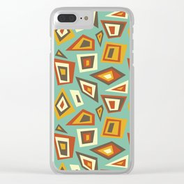 African Abstract Geometric Retro Clear iPhone Case