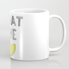 WHAT THE DUCK written with duck tape Coffee Mug