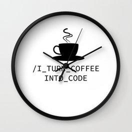 Coffee Programmer Coden nerdy Geek joke gift Wall Clock