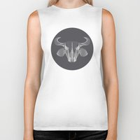 buffalo Biker Tanks featuring Buffalo by GeeJayTee