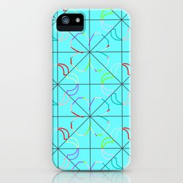 Motif bleu iPhone Case